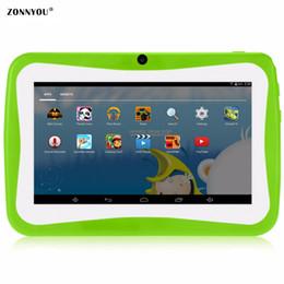 2019 educazione compresse 7 pollici Tablet Computer Bambini Quad Core Wi-Fi 8GB 1024x600 schermo Giochi educativi per bambini BabyPAD Regalo di compleanno educazione compresse economici
