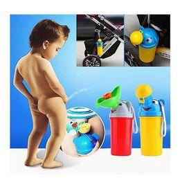 Wholesale Toilet Training Urinal - Portable Baby Urinal Boys Girls Travel Toilet Cartoon Kid Potty Vehicular Training Travel urination Boy Portable Urinal KKA3931