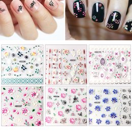 Тисненые листы онлайн-24 sheets 24 Different Design Embossed Flower Pattern Nail Stickers 3D Nail Art Stickers Decals Art Decorations NTL-40