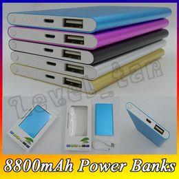 banco de poder emoji Rebajas 2018 Hot-Sale Ultra thin slim powerbank 8800mAh Ultrathin power bank for mobile phone Tablet PC External battery F-YD
