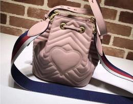 Wholesale Heart Shaped Red Handbag - Fashion Designer Handbags Luxury Bag Single Shoulder Bag Brand Slant Bags With A Heart-Shaped Bucket Handbag Leather For Women Girl Hand Bag
