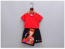 Wholesale Poker T Shirts - Summer Girls Clothing Sets Children Short Sleeve T-shirt Tops+Cartoon Poker Skirts Kids Suits Girl Outfits 5 s