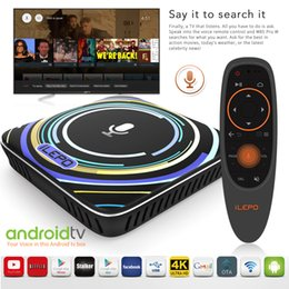 Wholesale Mini Voice - Google Voice Control Android Box ilepo i18 S905W TV Boxes 2018 Hot Android TV 7.1.2 System Smart 4K Box Free Movies Streaming VS X96 Mini