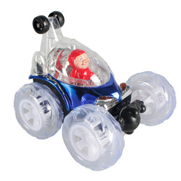 Wholesale Drift Model Cars - Funny Mini Rolling stunt car toy dumper car model charging toy car Dancing Drift Model Rotating Wheel Vehicle Motor