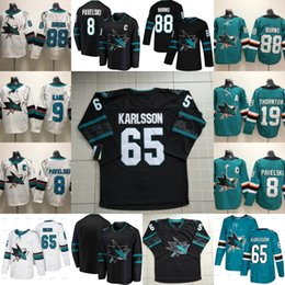c419d17853d 65 Erik Karlsson San Jose Sharks Third 3rd Alternate Jerseys Joe Thornton  Brent Burns Joe Pavelski Logan Couture Evander Kane Double Stiched