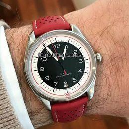 Relógio japão miyota on-line-Novo 522.32.40.20.01.004 Japão Miyota 821A Automático Olímpico Memorial mens relógios pulseira de couro vermelho Edição Limitada Gents relógios de Luxo