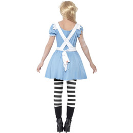 Halloween-outfits erwachsene online-Zombie Erwachsene Frauen Halloween Scary Zombie Maid Bloody Kostüm Horror Kleidung Devil Vampire Dreadful Cosplay Party Outfit für Festival Girls