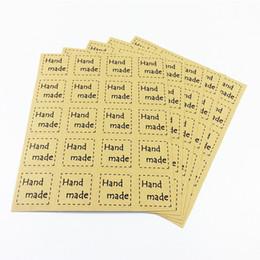 Canada 2000pcs / lot DIY Scrapbooking Kraft Scellant Autocollants Papier Artisanat Fait Main Étiquettes Emballage Enveloppes Sacs Autocollant Offre