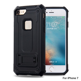 telefon rüstung Rabatt Rüstung montiert Magnete Kickstand stoßfest dropproof TPU + PC Materia Telefon Fall für iPhone X 6 s 6 P 7 7 P 8 8 P