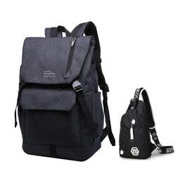 men travel bags bagpack sling chest bag large school bags for boys  teenagers simple black waterproof school backpack for laptop 33ca4b813d621