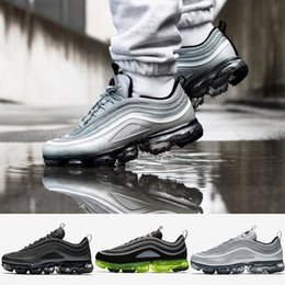 Wholesale Spike S - 2018 Newest Vapormax 97 97s Running Shoes For Mens Silver Gold Bullet Triple s white balck Japan Sports Trainers Sneakers Size 41-45