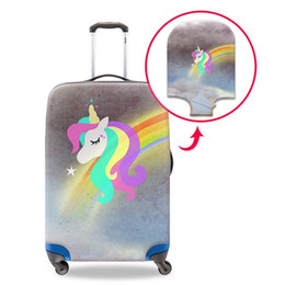 Modest And Handsome Unicorn Travel Suitcase Protector Zipper Suitcase Cover Elastic
