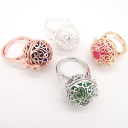 Wholesale Cage Rings - whole sale2018 New Collection Popular Paisley Locket Cage Fashionable Essential Oil Diffuser Women`s Ring