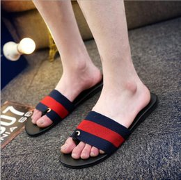 Wholesale Worn Flip Flops - 2018 New hot summer men's tide non-slip personality wear slippers mixed casual summer fashion beach