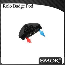 Vapore accessori online-Autentico Smok Rolo Badge Cartridge 2ml per Smoktech Rolo Badge Kit E-cigs Accessori Pods per Vaping Kit Atomizer Pod 100% Originale