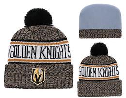 Le migliori beanie di qualità online-Ultimi cavalieri d'oro di Vegas Beanies Sideline Cold Weather Best Quality cucito Knit Hats All Teams maglia di lana invernale può misto Caps