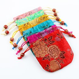 Wholesale Packaging Bags China - Embroidery Bead Silk Jewelry Packaging Pouch 10x10cm pack of 50 China gift bag