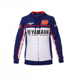 Wholesale yamaha 25 - 2017 New Sale Men's 80% cotton 20% polyester Motorcycle Hoodie Jacket Racing M1 Fit For Yamaha MOTO GP 25 Casual Jacket