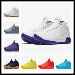 Wholesale Ad Round - Hot sales Kobe AD Mid Fearless Top Quality Basketball shoes With Box 2018 Kobe Bryant AD Mid shoes free shipping US7-US12