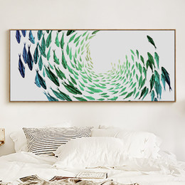 Wholesale Fish Poster - 07G Abstract Swirling Fish Gangs Banners Canvas Art Painting Print Poster Picture Wall Bedroom Home Wall Decoration Murals