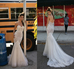 2019 vestidos de noiva berta lantejoulas Encantador Querida Ilusão Bodys Sereia Vestidos de Noiva 2019 Berta New Sexy Lace Frisada Lantejoulas Vestidos de Noiva Custom Made vestidos de noiva berta lantejoulas barato