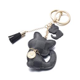 Katze handy-charme online-Qualitäts-Handy-Bügel bezaubert netter PU-Katzen-Schlüsselketten-Quasten-Zusatz-luxuriöser Keychain Charme-netter Taschen-Anhänger