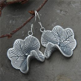 Orecchini tailandesi online-2018 Earings Fashion Jewelry Thai National Wind Restoring Ancient Ways Is The Contracted Lotus Leaf Earrings S925 Prodotti puri
