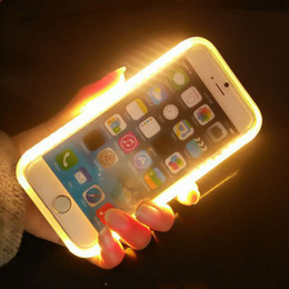 Wholesale Cell Phone Case Retail Packaging - LED Light Up Your Face Cell Phone Case For iphone X 6 7 8 plus Samsung Galaxy S6 S7 Edge With Retail Package