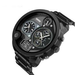 Relojes analógicos de gran deporte online-Tamaño grande de Lujo Top Hombres Relojes de Los Hombres Reloj de Cuarzo Hora Analógico Digital Reloj Deportivo Hombres Ejército Militar Reloj de pulsera Relogio masculino