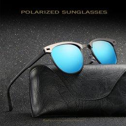 Wholesale Car Sunglasses Case - PANDDOG Men Sunglasses 2018 Gradient Alloy Frame Polarized Car Anti-glare Sun Glasses UV400 Polarized With Cortex Case WD0911