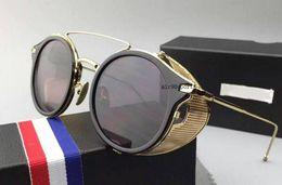 boîte de tb Promotion NOUVEAU style de haute qualité thom tb-804 lunettes de soleil hommes et femmes TB 804 couleur browne noir avec boîte originale livraison gratuite