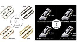 Wholesale Original Options - Metal Connectors Adapters For Apple Watch Bands Replacements 2 Versions With or Without Spring Bar Original Design at option