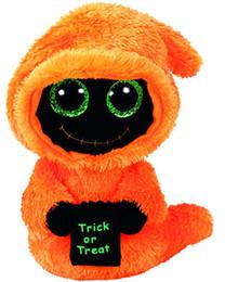 boné preto laranja Desconto Ty Beanie Bebês Boos Preto Laranja Ceifador Halloween Boo brinquedos De Pelúcia para crianças Boneca juguetes brinquedos