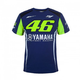 Wholesale quick gps - New Arrival 2017 Valentino Rossi VR46 Moto GP T-shirt for Yamaha Racing Blue Men Tee Free Shipping