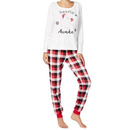Семейные наряды для Рождества Семейные пижамы в полоску Набор для матери Набор одежды Родитель-ребенок от