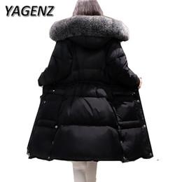 Wholesale Korean Down Coat Women - High-grade Winter Fox fur Women Jacket Warm Hooded Coats 2018 Korean Slim Down Thick Long Overcoat Parkas Casual Female Jacket