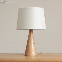 Wholesale European Style Coffee Table - 2017 Loft Wood Wooden Table Lamp solid wood Light American European Style For Coffee Shop Living Room Bedroom Bedside Home Decor