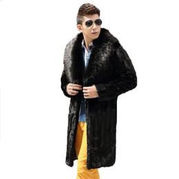 Migliori pellicce di faux online-La migliore vendita! Cappotto di pelliccia di faux degli uomini di inverno Cappotto di visone caldo di giuntura di modo caldo Cappotto di pelliccia di volpe lungo e comodo della pelliccia di Fox
