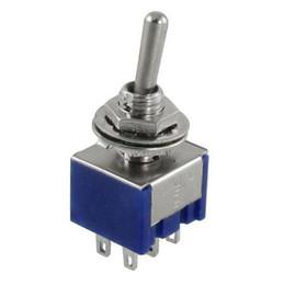pinzare le miniature Sconti 5Pcs DPDT ON-OFF-ON 3 Posizioni 6 pin Latching Interruttore a levetta miniatura AC 125V 6A
