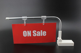 Wholesale Pc Supermarket - 2 pcs Supermarket shelf POP advertising tag label hanger holder magnetic category label sign poster holder