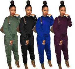 e6ab0bc2dd 2019 marcas de roupas de ginástica feminina Outono Camiseta de Manga Longa  Calças Mulheres Treino Calças