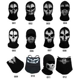 2019 máscara de fantasma rosto cheio 2016 New Arrival Tactical Fantasma Crânio Máscara Facial Ao Ar Livre Paintball CS WarGame Exército Balaclava Frete Grátis desconto máscara de fantasma rosto cheio
