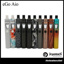 Wholesale White Singles - Joyetech eGo Aio Kit with 2.0ml Capacity 1500mAh Battery Anti-leaking Structure and Childproof Lock All-in-one Style Kit 100% Original