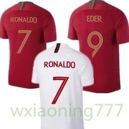 651437ebdc 2018 Copa del Mundo Jersey PORTUGALIZER Portogallo RONALDO NANI Camiseta de  fútbol 18 19 Maillot de Foot Cristiano Eder Camiseta de fútbol blanco  PORTUGAL