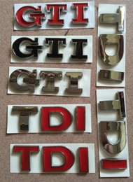Wholesale Volkswagen Tdi - TDI GTI Car Styling 3D Metal Emblem Car Sticker 3D Decals Creative Mark Badge Auto Stickers fit for Volkswagen Audi