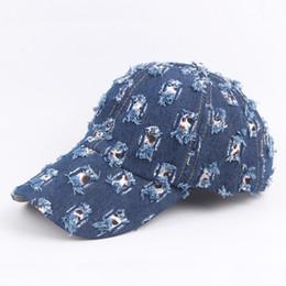 4e3ad097893db Moda Vintage Style Denim Gorra de béisbol para hombres mujeres Sun Visor  Casquette Hip Hop Dance Style Snapback equipado Popular diseñador sombreros  75bc ZZ