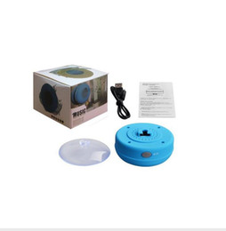 Wholesale Mini Speaker Iphone - Mini Portable Subwoofer Shower Waterproof Speaker Wireless Bluetooth Car Handsfree Receive Call Music Suction Mic For iPhone Samsung and DHL