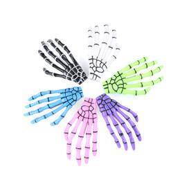 Скелетные когти зажимы для волос онлайн-10pairs женщины Harajuku череп скелет рука зажим для волос кость Коготь Шпилька Хэллоуин аксессуары для волос горячий творческий дизайн подарок