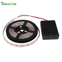Tira de luz LED RGB / Cálido / Frío Impermeable IP65 2m / 1m / 0.5m 3528 SMD LED Tira de cinta flexible con caja de batería Mini control remoto desde fabricantes