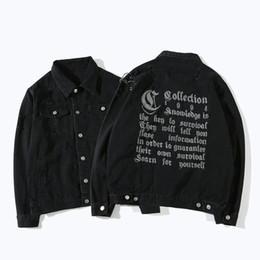 Wholesale men denim winter jackets - Denim Jackets Men Women Autumn Winter Casual Denim Jacket Coat Fashion Streetwear Outwear Blue Holes Slim Jean Jackets 2018